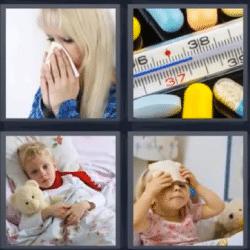 4 fotos 1 palabra termómetro