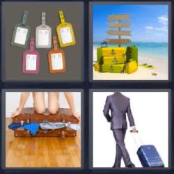 4 fotos 1 palabra maletas
