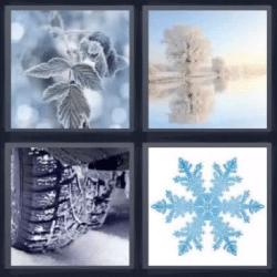 4 fotos 1 palabra hielo nieve