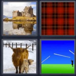 4 fotos 1 palabra castillo cuadrados