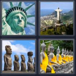 4 fotos 1 palabra estatua libertad brasil