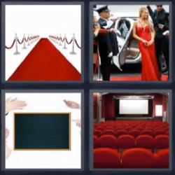 4 fotos 1 palabra pizarra cine