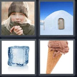 4 fotos 1 palabra helado