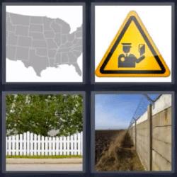 4 fotos 1 palabra mapa estados unidos
