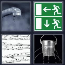 4 fotos 1 palabra grifo con gota