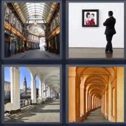 4 fotos 1 palabra pasillo de arcos