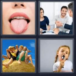 4 fotos 1 palabra lengua