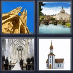 4 fotos 1 palabra catedral boda