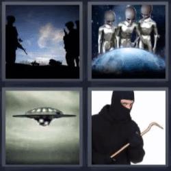 4 fotos 1 palabra ovni ninja