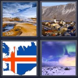 4 fotos 1 palabra bandera nieve