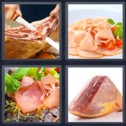 4 fotos 1 palabra carne
