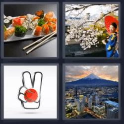 4 fotos 1 palabra sushi