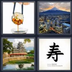 4 fotos 1 palabra sushi japon