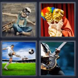 4 fotos 1 palabra mascaras