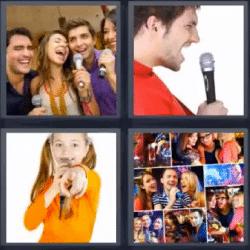 4 fotos 1 palabra cantando