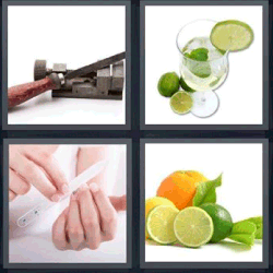 4 fotos 1 palabra limón