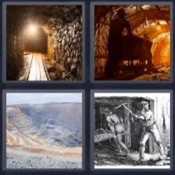 4 fotos 1 palabra tunel mina