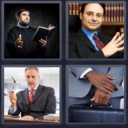 4 fotos 1 palabra hombre con traje