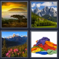 4 fotos 1 palabra paisaje ropa