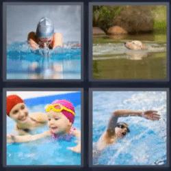 4 fotos 1 palabra natacion