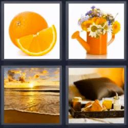 4 fotos 1 palabra puesta de sol naranja regadera con for Cama 4 fotos 1 palabra