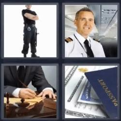4 fotos 1 palabra piloto pasaporte policia