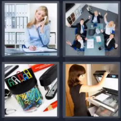 4 fotos 1 palabra secretaria