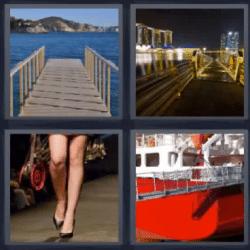 4 fotos 1 palabra puente piernas