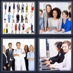 4 fotos 1 palabra profesiones