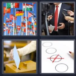 4 fotos 1 palabra banderas voto