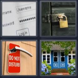 4 fotos 1 palabra candado puerta