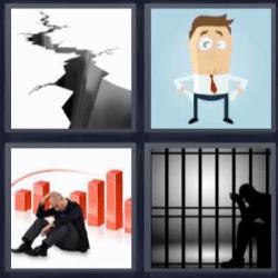 4 fotos 1 palabra preso grieta
