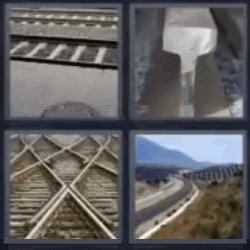 4 fotos 1 palabra vias de tren