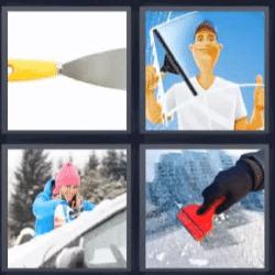 4 fotos 1 palabra limpiando vidrio