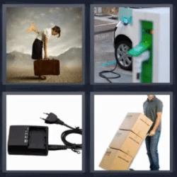 4 fotos 1 palabra auto eléctrico