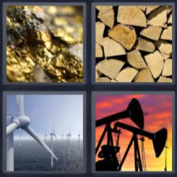 4 fotos 1 palabra oro madera