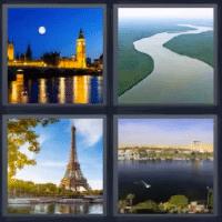 4 fotos 1 palabra río