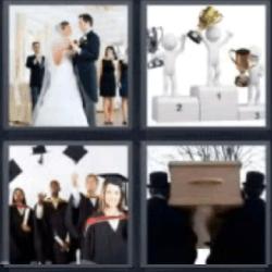 4 fotos 1 palabra boda