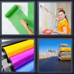 4 fotos 1 palabra pintar carretera