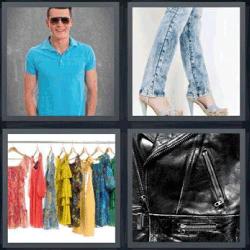 4 fotos 1 palabra hombre playera azul