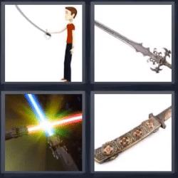 4 fotos 1 palabra espada