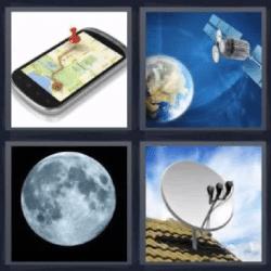 4 fotos 1 palabra celular luna
