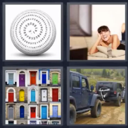 4 fotos 1 palabra pelota puertas de colores televisi n