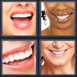 4 fotos 1 palabra boca sonrisa