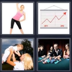 4 fotos 1 palabra gráfico