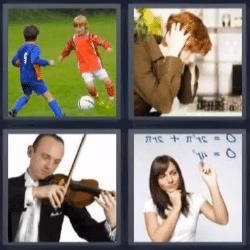 4 fotos 1 palabra futbol violin