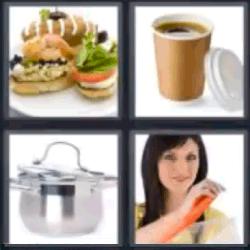 4 fotos 1 palabra cacerola