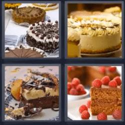 4 fotos 1 palabra pastel