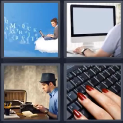 4 fotos 1 palabra computadora