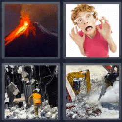 4 fotos 1 palabra volcan